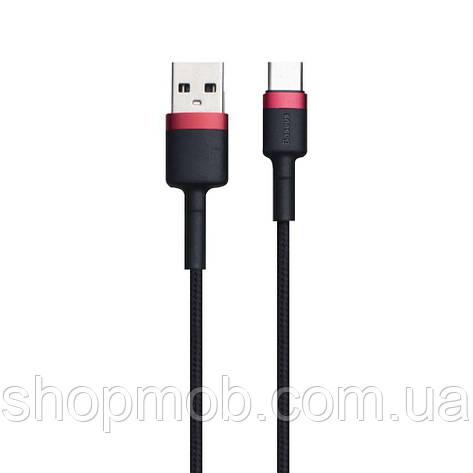 USB Baseus CATKLF-B 3A Type-C 1m Цвет Красно-Чёрный, 91, фото 2