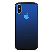Чехол Amber-Glass для Iphone XS Max бампер накладка градиент Blue