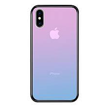 Чехол Amber-Glass для Iphone XS Max бампер накладка градиент Pink