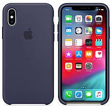 Чехол Silicone Сase для Iphone XS Max бампер накладка Midnight Blue