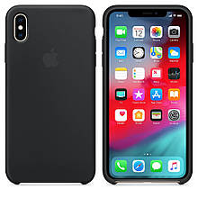 Чехол Silicone Сase для Iphone XS Max бампер накладка Black