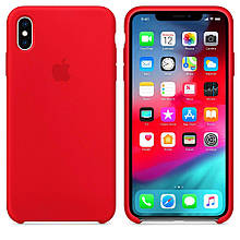 Чехол Silicone Сase для Iphone XS Max бампер накладка Red
