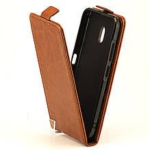 Чехол Idewei для Nokia 2.2 Флип вертикальный кожа PU коричневый
