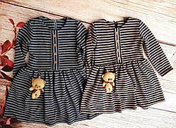 Дитяче гарне плаття бордового кольору розміри 98-122, фото 2
