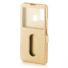 Чехол Window для Vivo Y15 книжка с окошком Gold