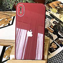 Чехол Color-Glass для Iphone XS Max бампер с защитой камер Red