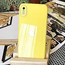 Чехол Color-Glass для Iphone XS Max бампер с защитой камер Yellow
