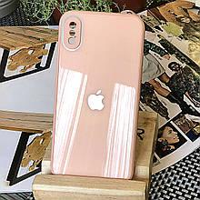 Чехол Color-Glass для Iphone XS Max бампер с защитой камер Peach
