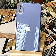 Чехол Color-Glass для Iphone XS Max бампер с защитой камер Blue