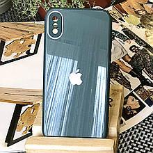 Чехол Color-Glass для Iphone XS Max бампер с защитой камер Pine Green