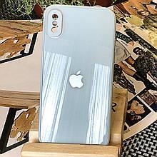Чехол Color-Glass для Iphone XS Max бампер с защитой камер Sky Blue