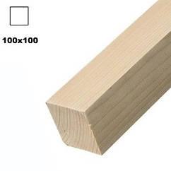 Брус дерев'яна яний строганий 100*100мм