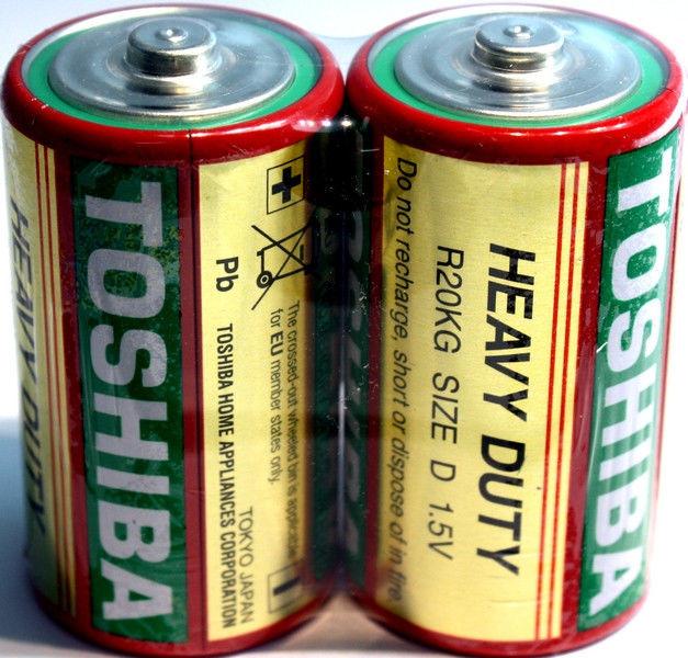 Батарейки TOSHIBA R20, D