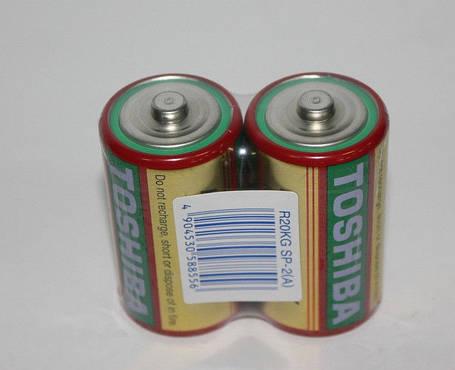 Батарейки TOSHIBA R20, D, фото 2
