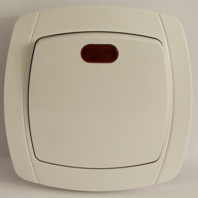 Вимикач LXL Beta White QTH 6121 вн. од. індикатор