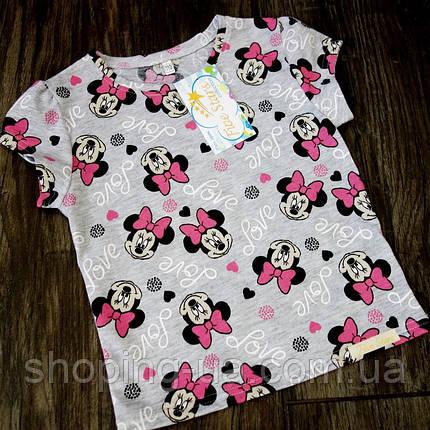 Детская футболка мини с бантиком Five Stars KD0436-104p, фото 2