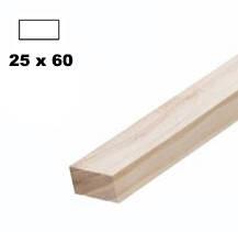 Брус дерев'яна яний строганий 25*60мм