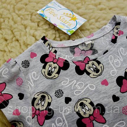 Детская футболка мини с бантиком Five Stars KD0436-128p, фото 2