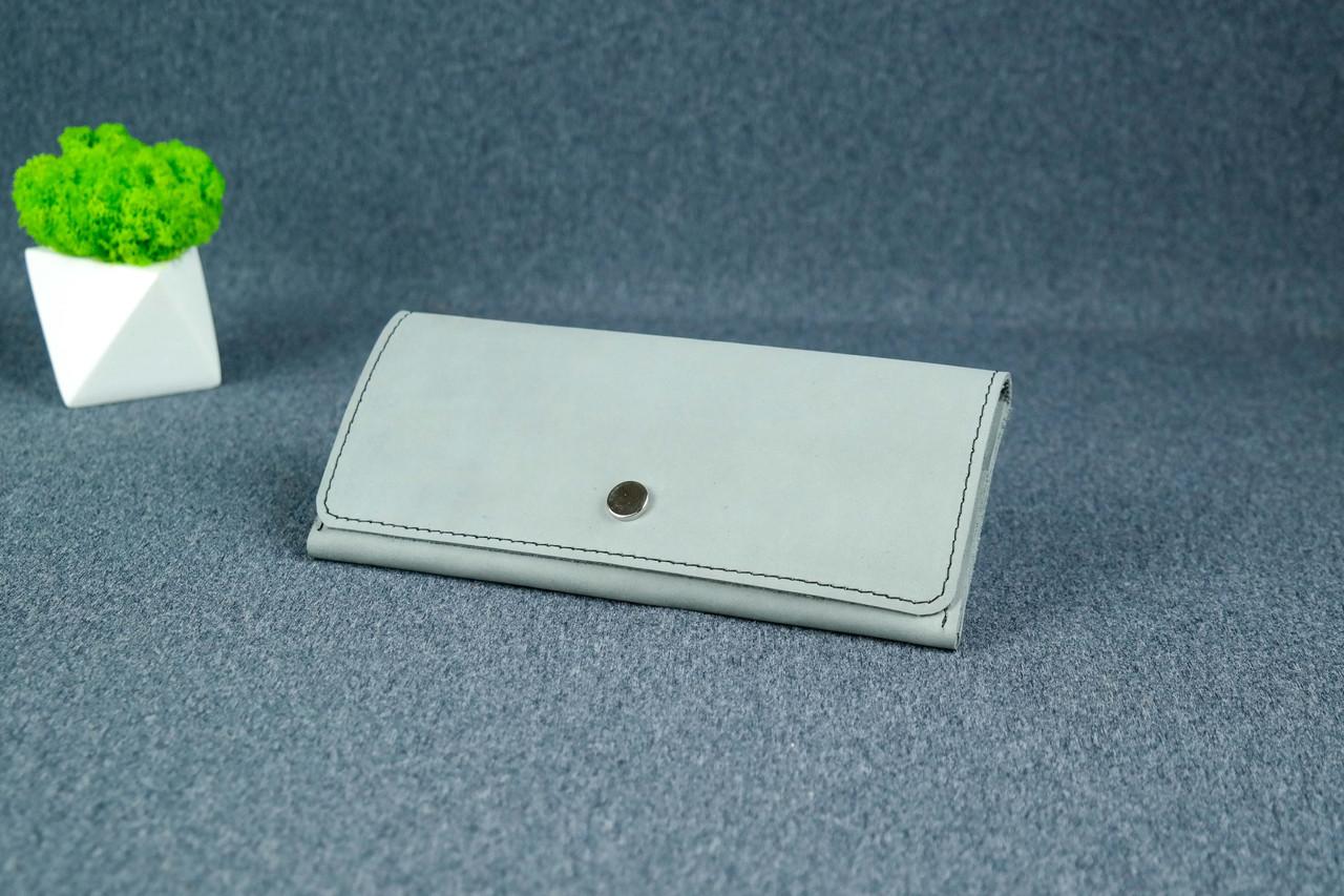 """Жіночий шкіряний гаманець """"Флай"""", Вінтажна шкіра колір Сірий"""