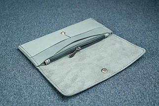 """Жіночий шкіряний гаманець """"Флай"""", Вінтажна шкіра колір Сірий, фото 2"""