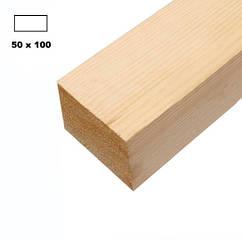 Брус дерев'яна яний строганий 50*100мм