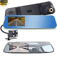 Зеркало видеорегистратор с камерой заднего вида и ночной съемкой Full HD Z авторегистратор.