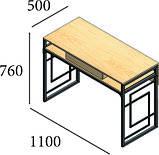Стол письменный Квадро лофт. Разные раскраски и размеры., фото 2