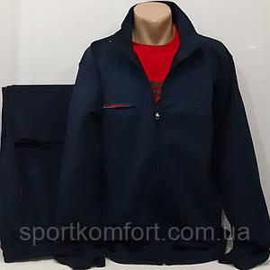 Великий спортивний трикотажний костюм бавовна 70 Soccer темно-синій розмір 56 58 60 батал