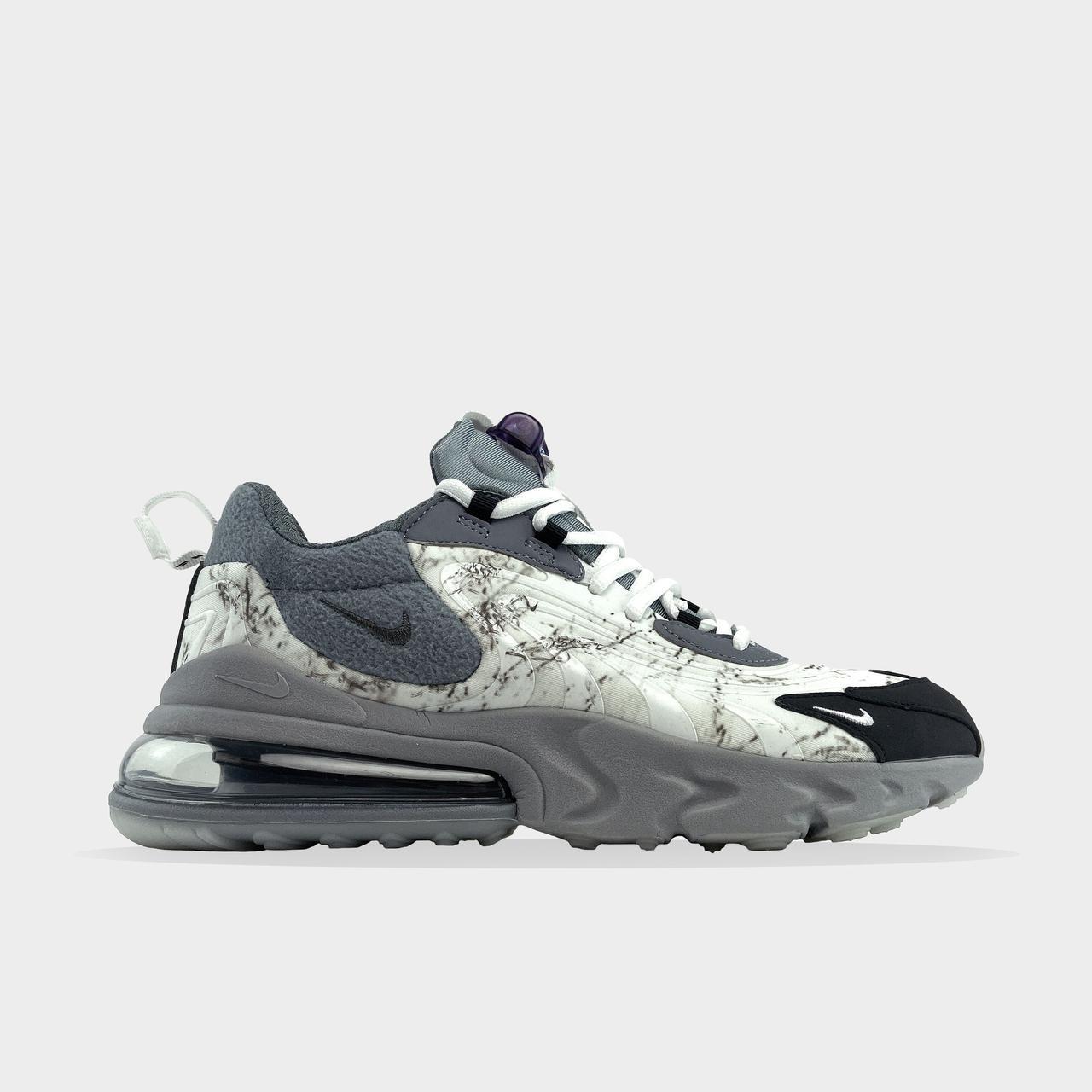 Nk, крос, обувь, взуття, sneakers, шузы, Air Max 270 React X Travis Scott (Серый)