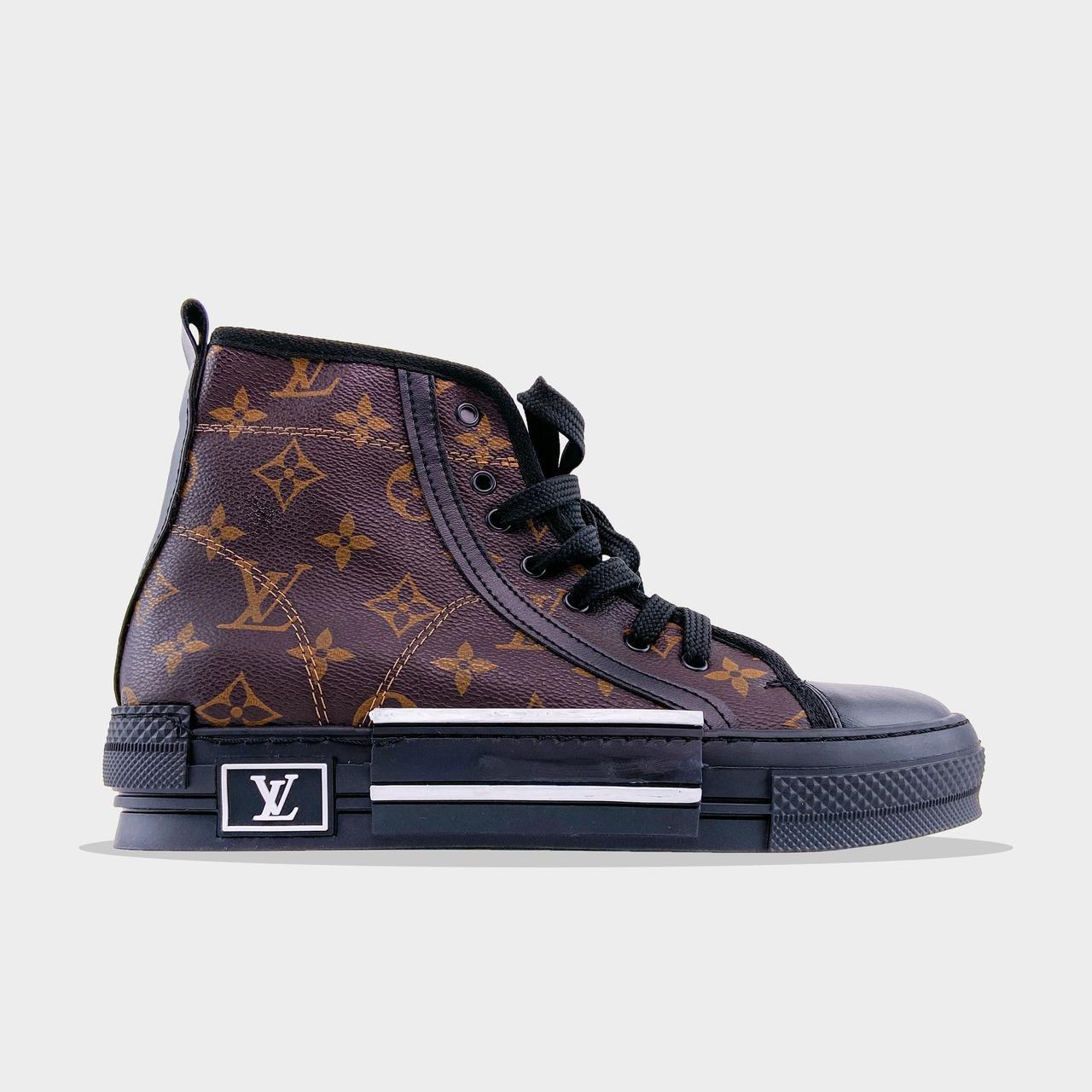 L@uis Vuitt@n кроссовки, крос, обувь, взуття, sneakers, шузы, B23 Brown Black (Коричневый)