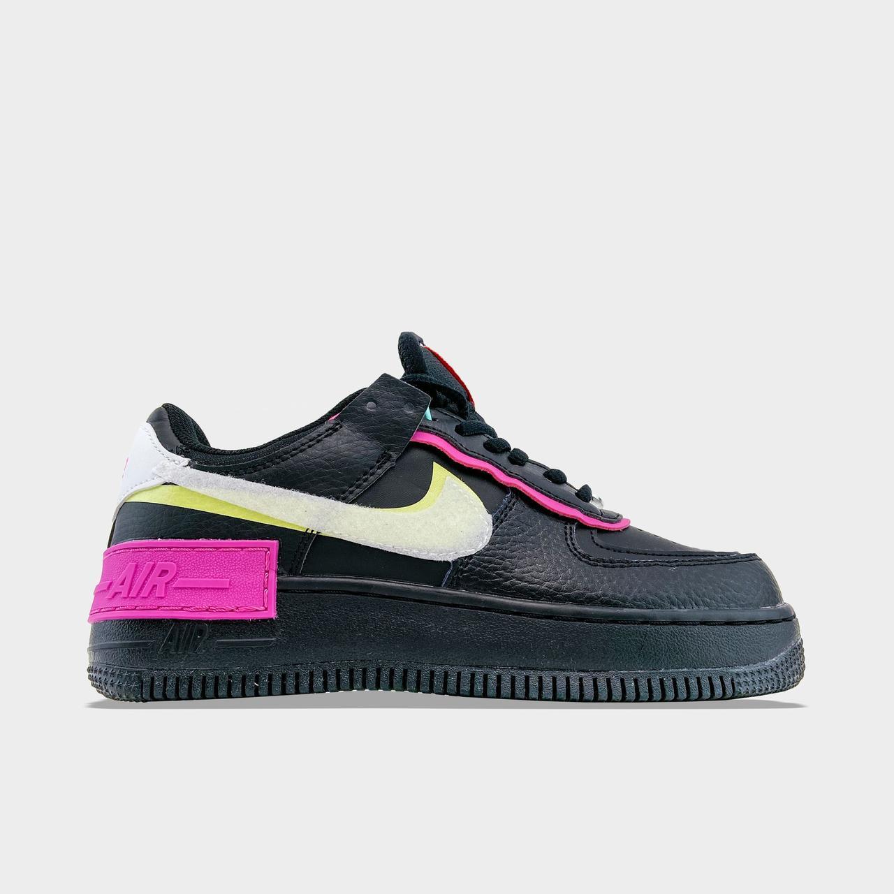 Nk, крос, обувь, взуття, sneakers, шузы, Air Force 1 Shadow Low Removable (Черный)