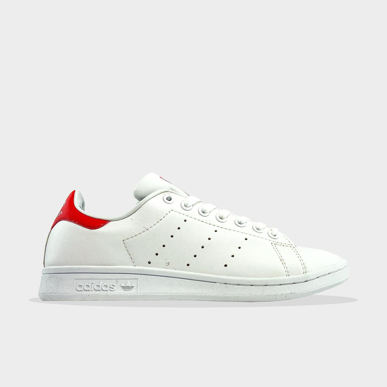Ad!id@s, крос, обувь, взуття, sneakers, шузы, Stan Smith White Red (Белый)