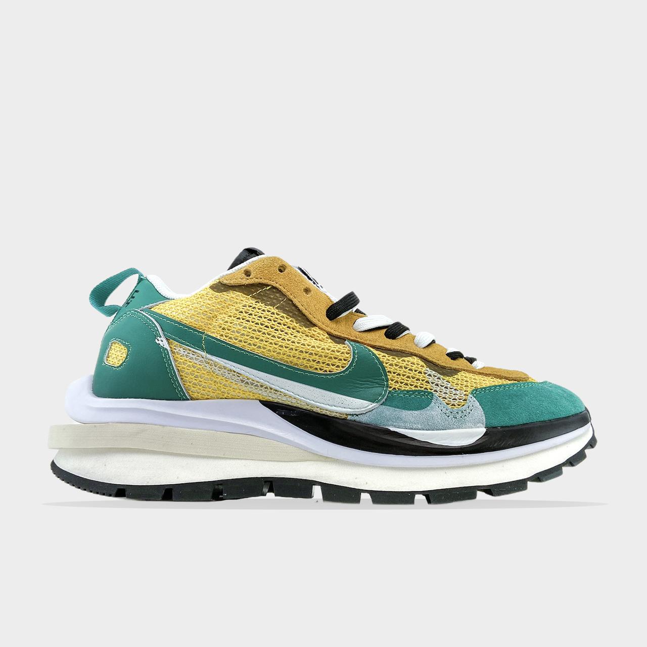 Nk, крос, обувь, взуття, sneakers, шузы, x Sacai VaporWaffle Green Yellow (Желтый)