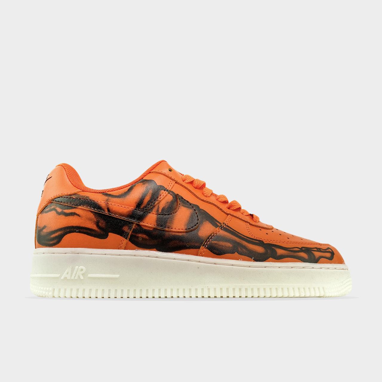 Nk, крос, обувь, взуття, sneakers, шузы, Air Force 1 Low Skeleton Orange (Оранжевый)