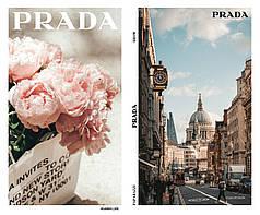 """Односторонняя крафт бумага для цветов """"Fashion Prada"""" 50см*10м"""