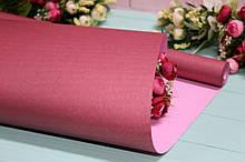 Крафт бумага двухсторонняя однотонная упаковочная цветная 70см*10м Марсал/Розовая пудра