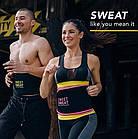 Пояс для похудения SIZE XL с компрессией Sweet Sweat Waist Trimmer Belt | Жиросжигающий пояс, фото 3