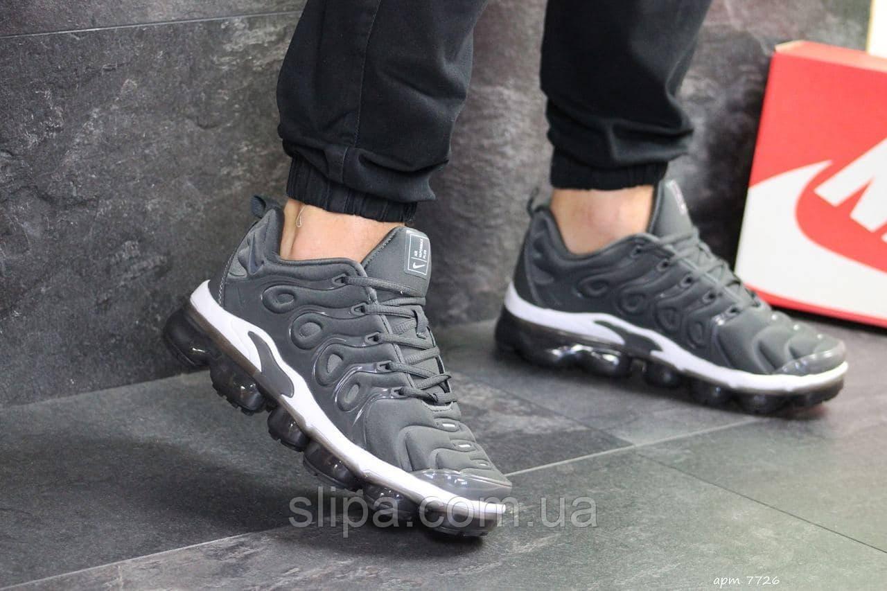 Чоловічі кросівки в стилі Nike Vapormax Plus сірі