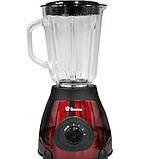Блендер DOMOTEC MS-6611 2 в 1 з кавомолкою,стаціонарний 1000 Вт Червоний, фото 2