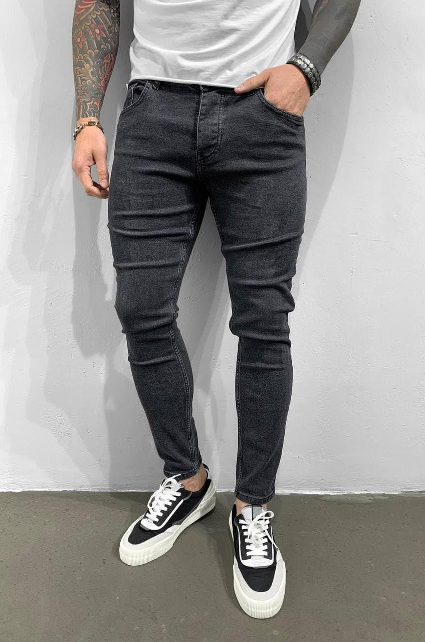 Мужские джинсы графит Black Island 6285-3428