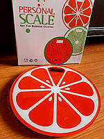 Весы круглые электронные напольные до 180кг, апельсин