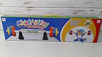 Игра детская пауэрлифтинг штанга 80,5 см, Детская штанга, набор блинов 6 шт MR 0172, фото 1