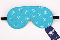 Двусторонняя маска для сна с якорями , фото 1