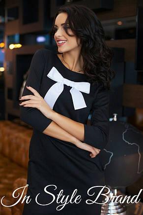 Платье бант с карманами трикотаж, фото 2