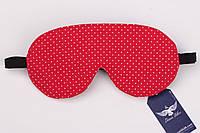 Двусторонняя маска для сна в горошек , фото 1