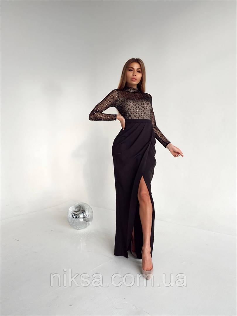 Платье в пол с разрезом, разные цвета