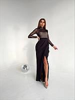 Платье в пол с разрезом, разные цвета, фото 1