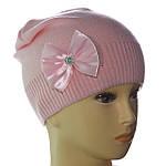 В'язана шапка для дівчаток