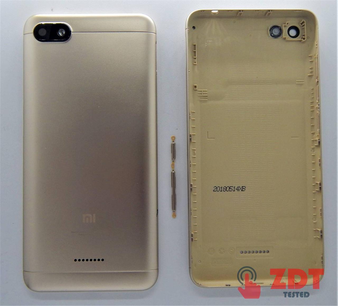Задняя крышка для Xiaomi Redmi 6A один слот SIM Original Gold (8000257G)