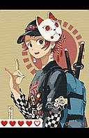 Картина по номерам Аниме 1(цветной холст) 40*50см Барви